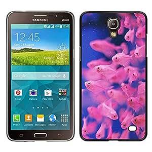 Buceo Tropical Fish Azul Rosa Coral Reef - Metal de aluminio y de plástico duro Caja del teléfono - Negro - Samsung Galaxy Mega 2