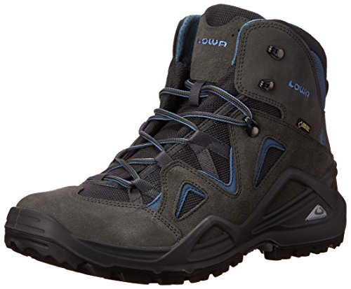 Lowa Men's Zephyr GTX Mid Hiking Boot, Anthracite/Blue, 8 M US Gore Tex Xcr Shoe