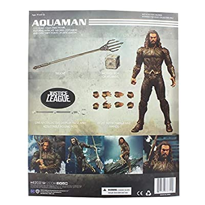 Mezco Toys One: 12 Collective: DC Justice League Movie Aquaman Action Figure: Toys & Games