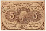 1862-63 Five Cent United States Fractional Currency