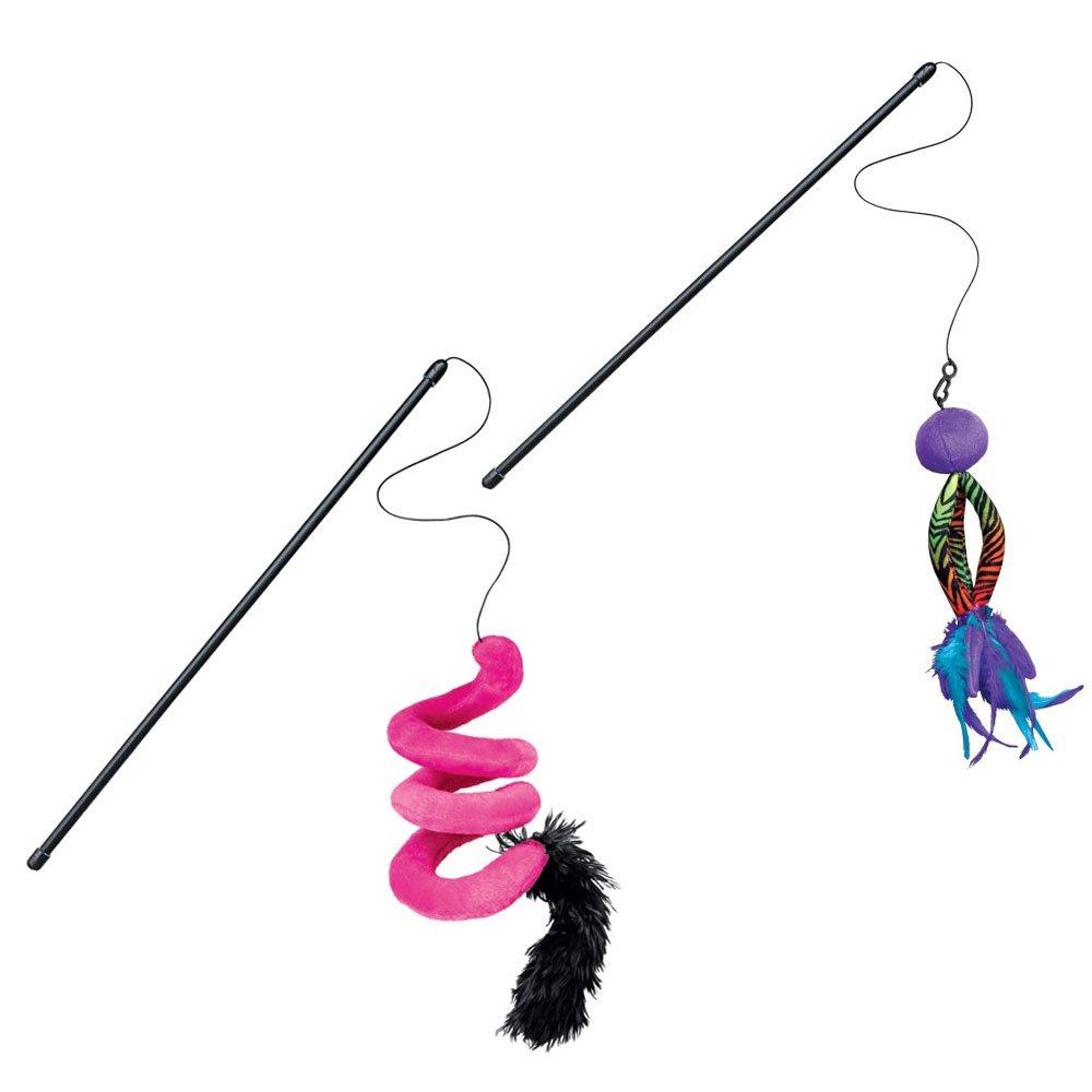 KONG Kickeroo Twirl Teaser Toy, Pink, Blue and Purple
