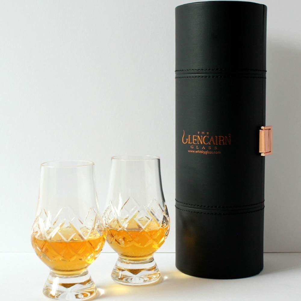 Glencairn Oficial Whisky Cristal Estuche de Viaje de Cristal – Set de 2: Amazon.es: Hogar