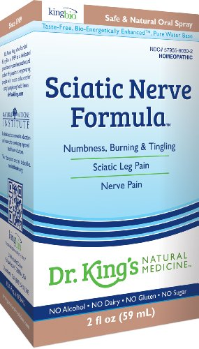 Médecine naturelle nerf sciatique la formule de M. King, 2 once liquide