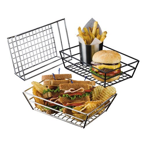 American Metalcraft RMB59C Rectangular Wire Grid Basket, Chrome by American Metalcraft