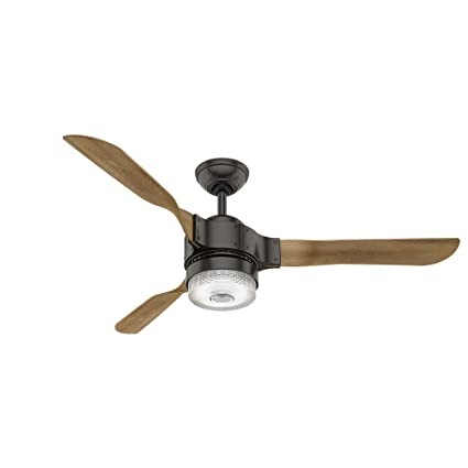 Amazon hunter 59226 54 apache ceiling fan with light with hunter 59226 54quot apache ceiling fan with light with handheld remote large noble aloadofball Image collections