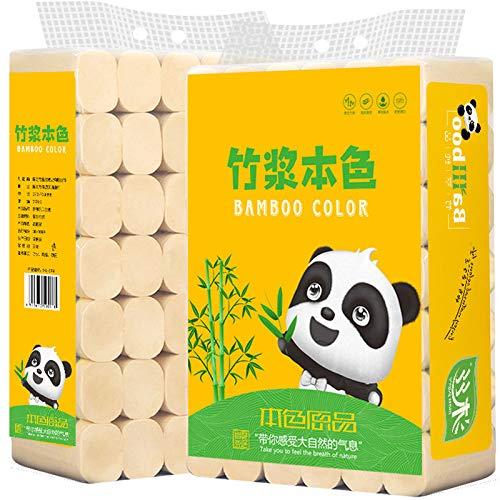 HGUIAZ Toiletpapier, duurzaam, van 100% bamboe, 4 lagen, zacht droog en aangenaam zacht, houtvrij toiletpapier in een…
