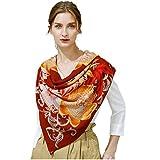 Women's Fashion Luxury Pure Wool Winter Scarves Printing Wraps Bandana(120cmx120cm),2#