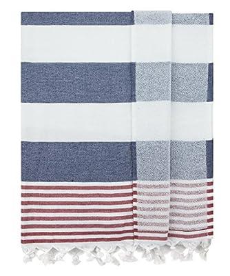 Eshma Mardini Bath & Beach Towel, %100 Cotton Peshtemal, Pool, Spa, Sauna, Hot Yoga Towel (Double Sided) Various Colors