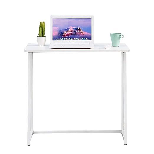 KJRJZDZ Mesa de Escritorio para computadora pequeña Mesa de ...
