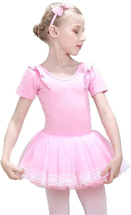 Faldas de danza para niña, Niños Chicas Manga corta Tul Tutu Falda ...