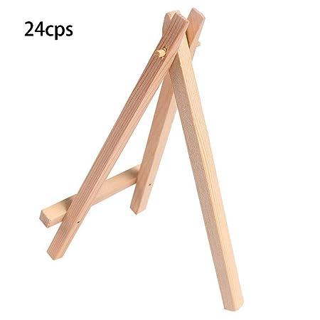 Shaoyanger - Caballete de madera para mesa de boda, 24 unidades ...