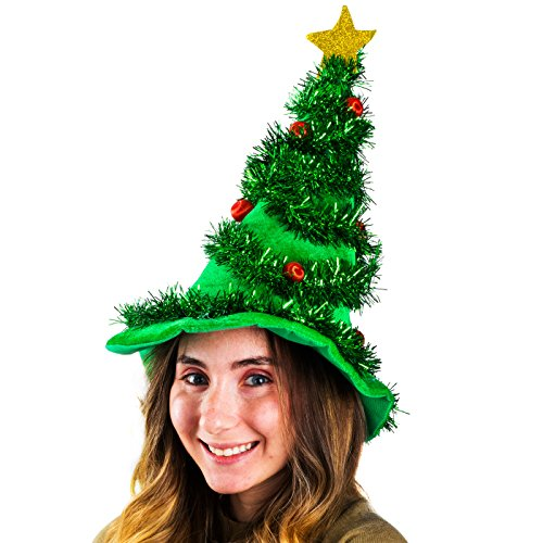 Funny Party Hats Christmas Hats - Holiday Theme Hats - Santa Hats (Christmas Light Up Hat) Christmas Hats