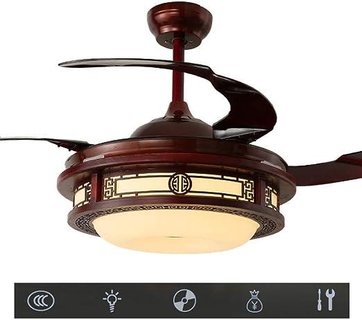 LAZ Luz de Ventilador de Techo Retro, lámpara de Ventilador LED ...