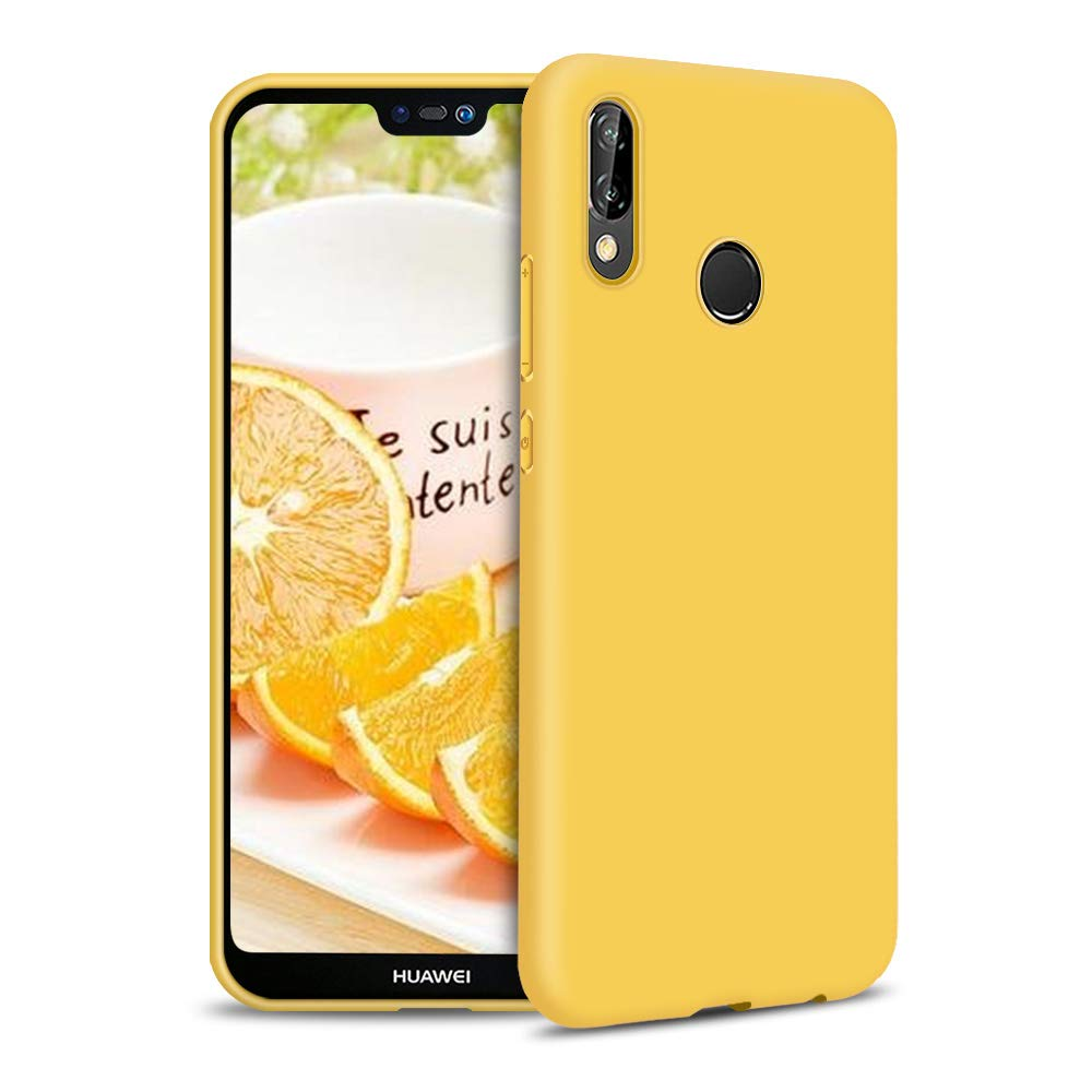 Silicona Gel TPU Case Goma Colores del Caramelo Anti-Rasgu/ño Resistente Ultra Suave Protectora Caso Funda para Huawei P20 Lite Carcasa Silicona Huawei P20 Lite Morado Claro