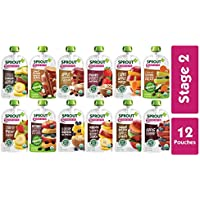 Sprout 12-Pouches of 12-Flavor Organic Stage Baby Food