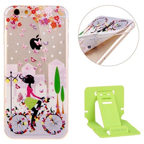 Ekakashop iPhone 6 plus/6s plus (5.5 pouces) Soft Silicone Fashion Coque Couverture, Jolie Motif de Série fleur fée [Anti-rayures] [Ultra Mince] [Ultra léger] Doux Souple Flexible TPU Gel Transparente