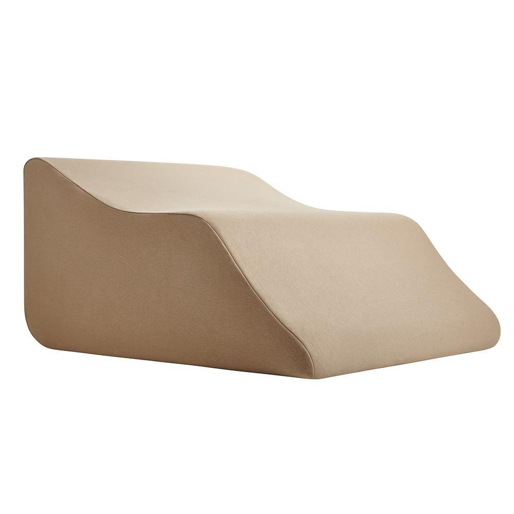 Lounge Doctor Elevating Leg Rest Pillow Wedge Foam w Cappuccino Cover Medium Foot pillow Leg Support leg swelling vein issues lymphedema restless legs Pregnancy