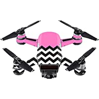 Skin For DJI Spark Mini Drone – Pink Chevron | MightySkins Protective, Durable, and Unique Vinyl Decal wrap cover | Easy To Apply, Remove, and Change Styles | Made in the USA