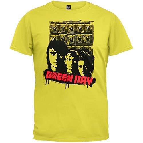 Green Day - Mens Poster 09 Tour T-shirt Small - Small Day Poster