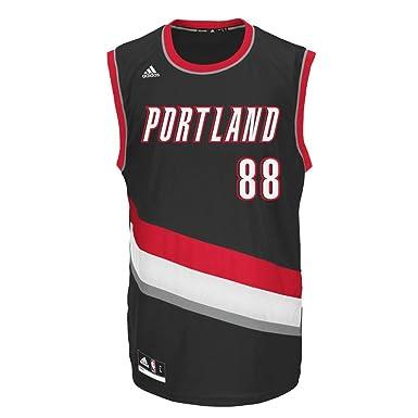ADIDAS NBA portland official camiseta de baloncesto [negro ...