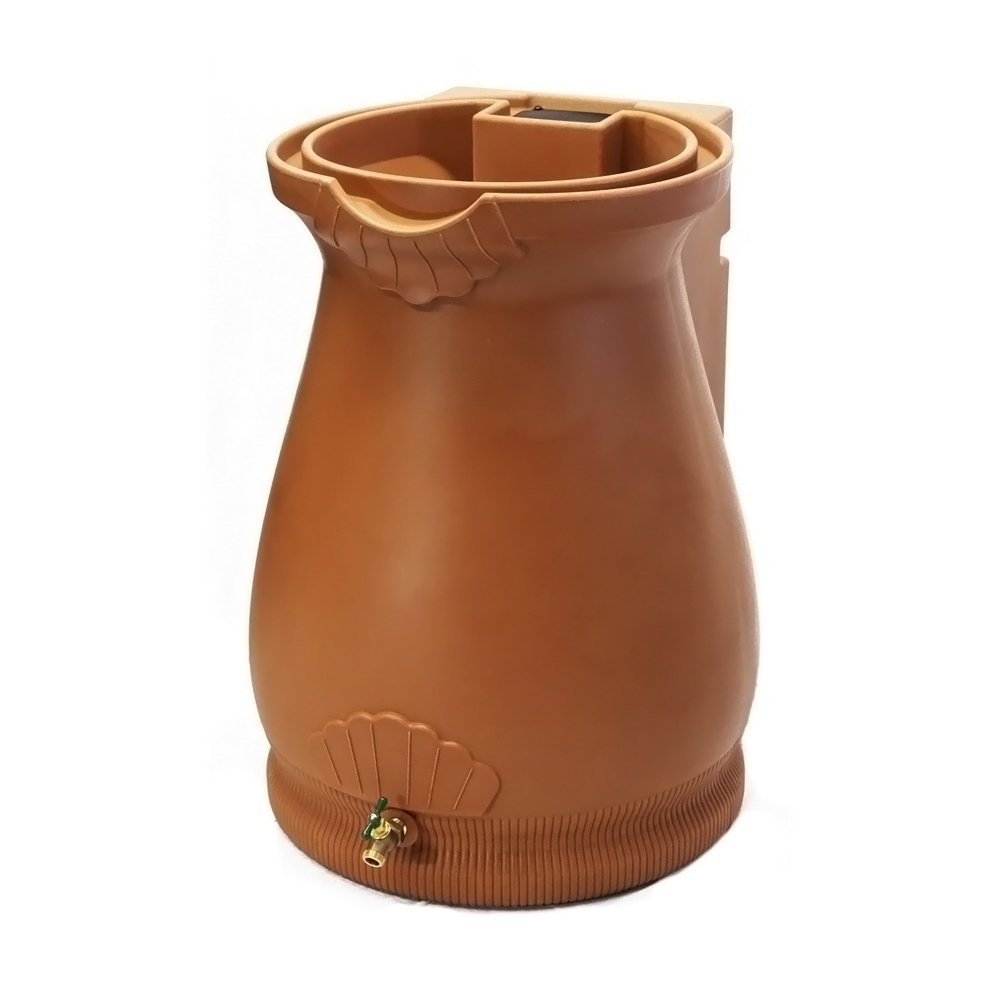 Good Ideas- Terra Cotta Rain Wizard Rain Barrel Urn