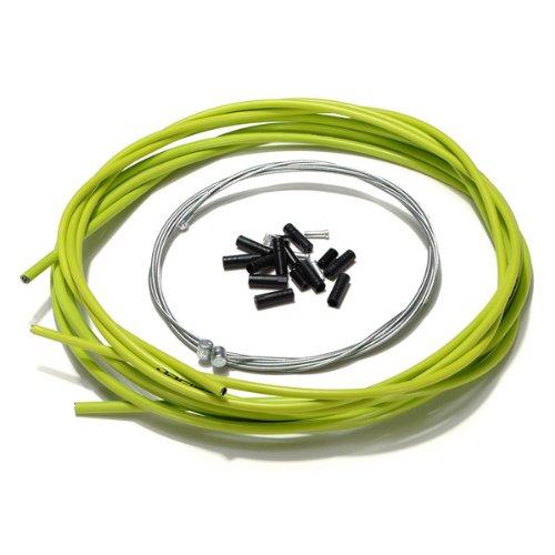 Sonline Bicicleta de la bici completa delantera y trasera Interior Exterior alambre engranaje freno Cables - Verde