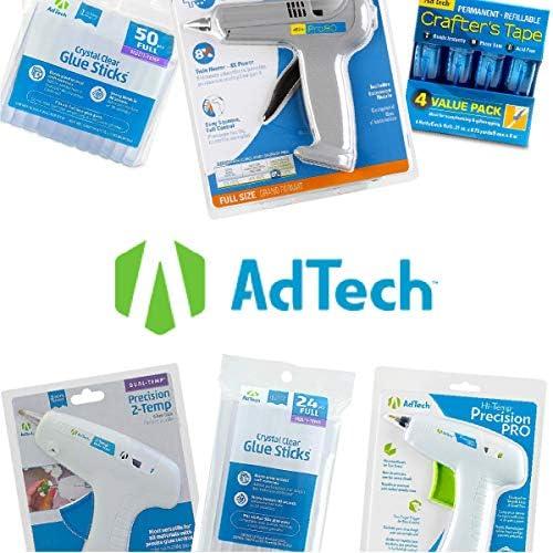 AdTech 100-pack 4-inch Mini Glue Sticks for Crafting, DIY, and Home Repair #W229-34ZIP100 Bulk,Clear