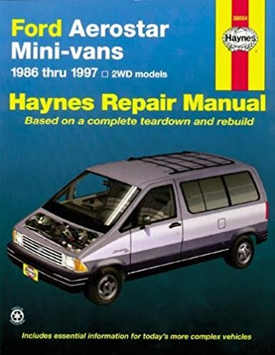 ford aerostar mini van 86 97 haynes repair manuals haynes rh amazon com ford van repair manual online ford econoline repair manual pdf