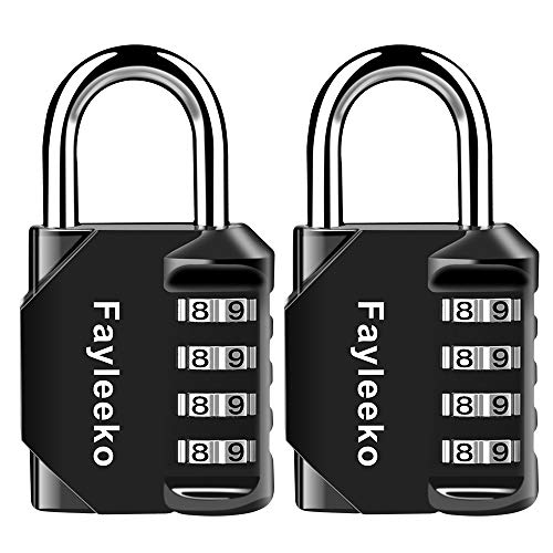 Combination Lock, 2 Pack, 4 Digit Combination Padlock for School Gym Sports Locker, Fence, Toolbox, Case, Hasp Cabinet Storage