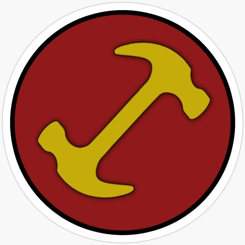 WillettaStore Stonecutters Symbol Stickers 3 Pcs//Pack