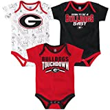 boys georgia bulldogs clothes - OuterStuff NCAA Georgia Bulldogs Children Boys Playmaker 3Piece Onesie Set, 24 Months, Red
