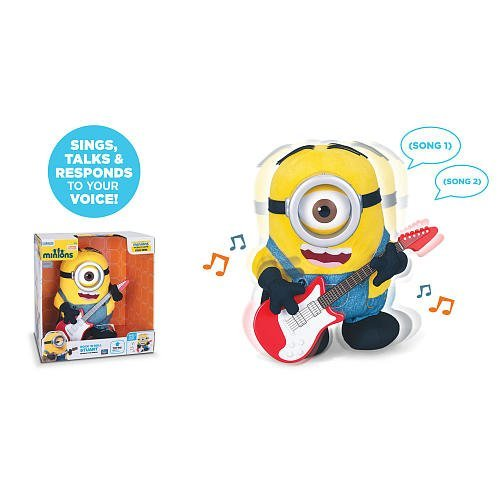 Minions Movie Rock N Roll Stuart - Rock out with this Interactive Minion! Stuart's a real Rock & Roll Star!