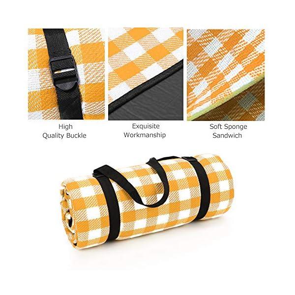 511No1youlL Simpeak Picknickdecke Wasserdicht 150x200 cm, Campingdecke wasserdichte Stranddecke für Strände/Picknicks/Parks/Camping…