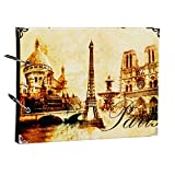 Orilife Sweet Love Scrapbook Vintage Photo Album Anniversary Scrapbook DIY Photo Albums Vintage Style Recording Our Story Valentines Day Gifts Christmas Gifts (Eiffel Tower)