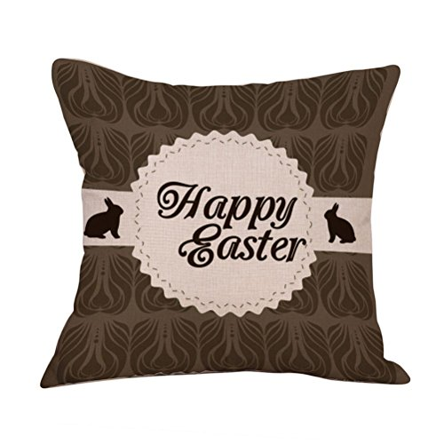 2017 Easter's Day Pillow Case,Elevin(TM)New Painting Square Cotton Cushion Cover Throw Waist Pillow Case Sofa Bedroom Home Decor Good Easter's Gift (M) (D)