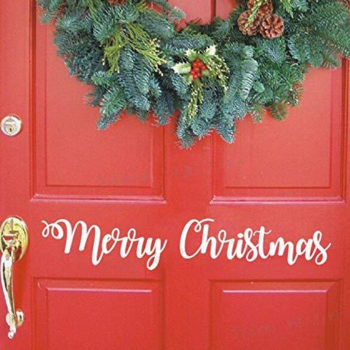 Adhesivo de Vinilo navideño Frente a casa decoración navideña ...