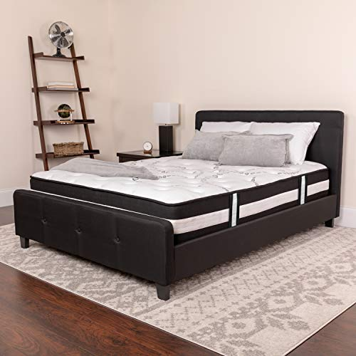 Flash Furniture Full Size Mattress High Density Foam and Pocket Spring Mattress in a Box, CL-E230P-R-F-GG (Daybeds Full For Size Sale)
