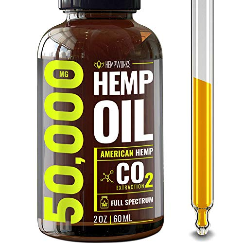 Hemp Oil 50000 MG Extra Efficacy – Pain, Stress & Anxiety Relief – Made in The USA – 100% Natural & Safe Hemp Oil – Immune Support – Anti-Inflammatory & Joint Support – Ideal Omega 3, 6, 9 Balance