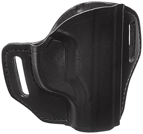 Bianchi #57 Remedy Open Top Leather Holster, Black, Right Hand, SZ21, Ruger LC9, LC380