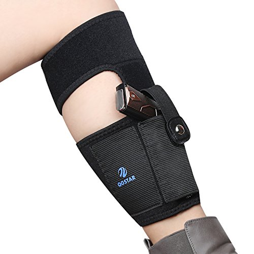Non-slipping-Ankle-Holster-for-Concealed-Carry-by-QGSTAR-Breathable-Neoprene-Gun-Holster-for-Small-Frame-Pistol-handgun-with-Magazine-Pocket-and-Secure-Strap-Fits-Women-Men