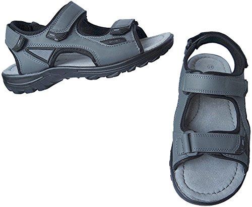 41 Grau Outdoorsandale Trekking Herren Gr Sandale Sandalette Schuhe Nr 46 9329 YPxwC1qSC