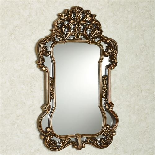 Touch of Class Aged Gold Ornate Domenica Wall Mirror Scrolls Acanthus Leaves Classic Home Decor