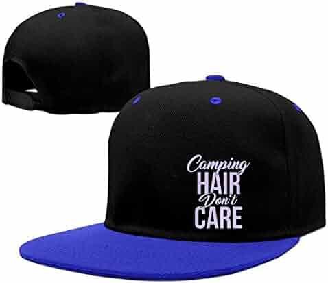 90706a2f943ac Eveler Camping Hair Don t Care Unisex Adjustable Snapback Hip Hop Hat Dad  Cap