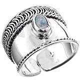 Bali Handmade Filigree Opalite 925 Sterling Silver Adjustable Toe Ring