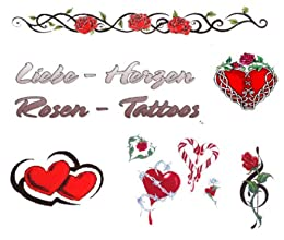 liebe herzen rosen tattoo vorlagen german edition ebook tattoo stars kindle. Black Bedroom Furniture Sets. Home Design Ideas