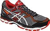 ASICS Men's Gel-Surveyor 5 Running Shoe, Black/Silver/Vermilion, 10 M US