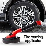 Car Tire Dressing Applicator Brush with Handle Wax Applicator Sponge Brush Car Interior Wheel Rim Brush Kit Washing Cleaner Keeping Saving Auto Detailing Brush