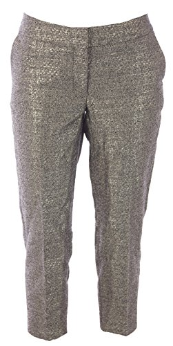 BODEN Women's Bistro Crop Trousers US Sz 2P Gold Metallic Boden Trousers
