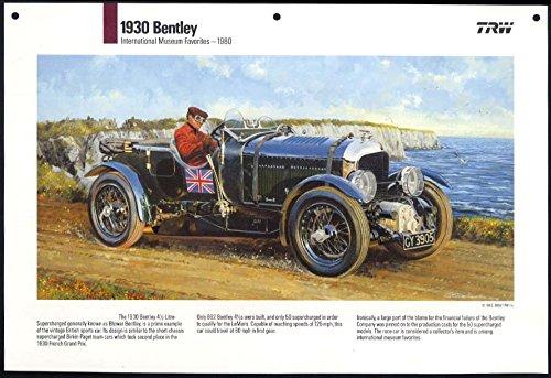 1930 Blower Bentley Supercharged TRW Calendar print 1980 / 1989