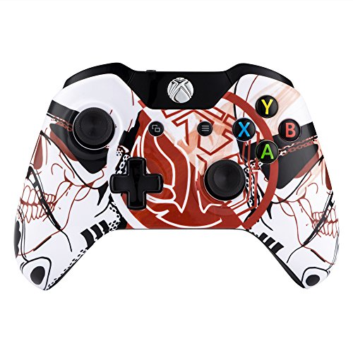 eXtremeRate® Star World Logo Custom Faceplate Front Housing Shell  Replacement Mod Parts for Microsoft Xbox One Controller (Both 3 5mm and  Original